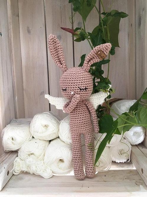 Crochet Baby Lapin ANGEL en coton brillant,le cadeau'd'anniversaire ou naissance