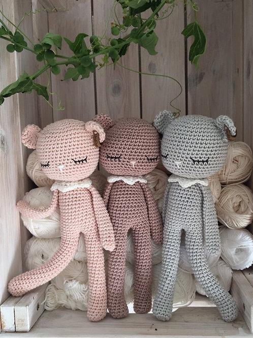 Crochet Baby teddybear 100% Cotton, Amigurumi teddy-bear Crochet cadeau annivers