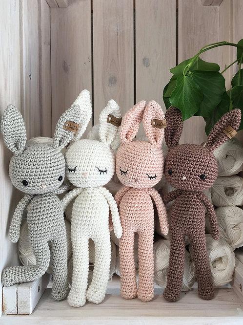 Adorable lapin GOLDIE amigurumi en coton pour bébé, en cadeau d'anniversai