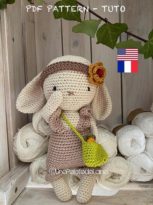 crochet pattern,PDF in english  MOLLY crochet bunny