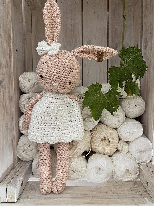 Amigurumi lapin avec robe au crochet, lapin en coton, le cadeau idéal pour anniv