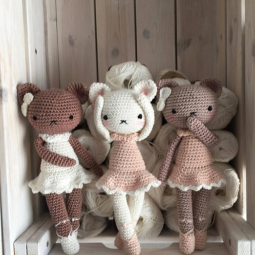 Amigurumi chat, nouveau-né crochet Ballerina chat, jouet kitty, cadeau de bébé,n