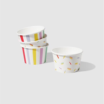 Stripe and Sprinkle Bowls (10 Count)