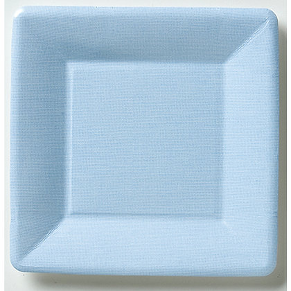 Light Blue Square Paper Dessert Plate
