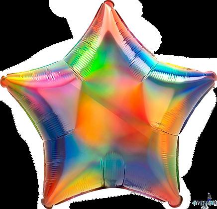 Iridescent Rainbow Star