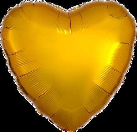 Metallic Gold Heart