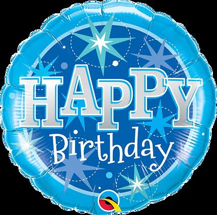 Happy Birthday Sparkle Blue