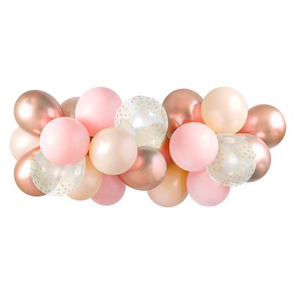 Pink & Rose Gold Balloon Garland