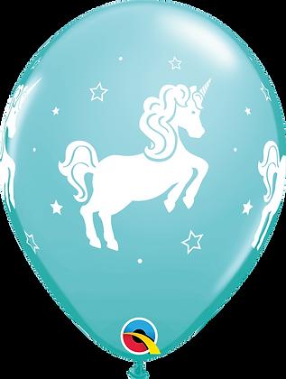 Whimsical Unicorn- Teal