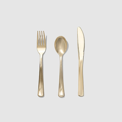 Metallic Gold Cutlery (30 Count)