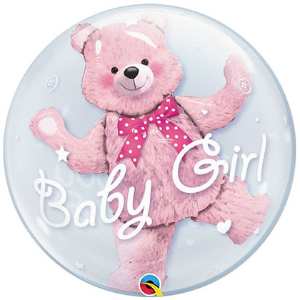 Baby Girl Bear Bubble