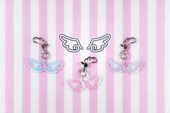 Twin ange 羽アクリルチャーム