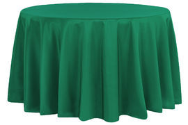 Round-Polyester-Tablecloth-Emerald-Green