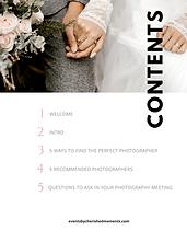 Photography E Book Template for Wedding