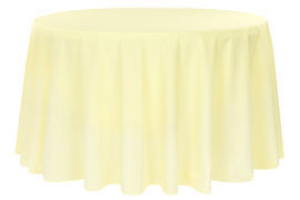 Round-Polyester-Tablecloth-Pastel-Yellow