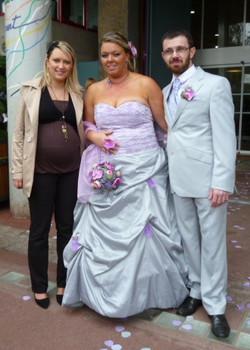 Céline au mariage de sa cliente