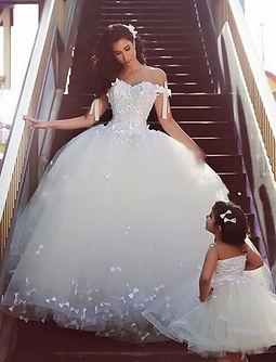 robe de mariée mère fille