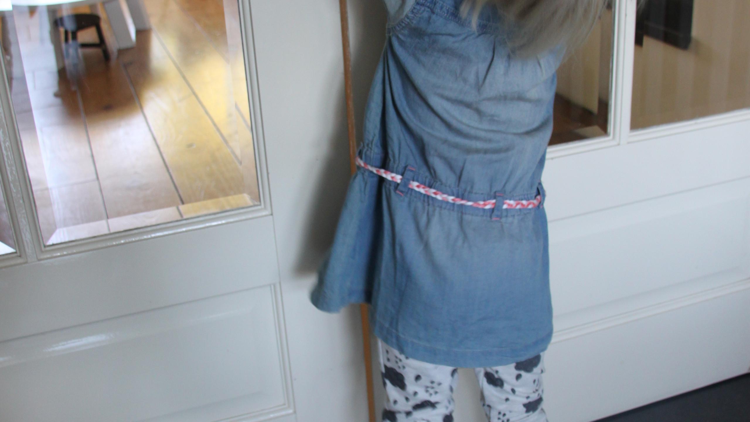 Maud met haar 'wolken' broekje