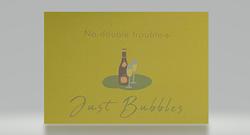 No double trouble-s-, just bubbles