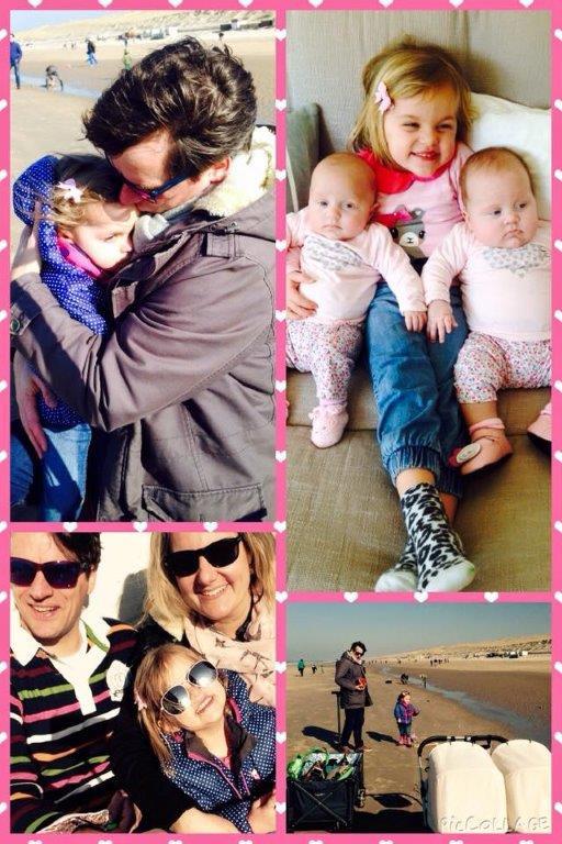 Tweelingmama Stephanie met haar gezin