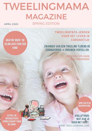 Tweelingmama Magazine cover - lente edit