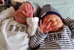 Eerste moment met tweeling