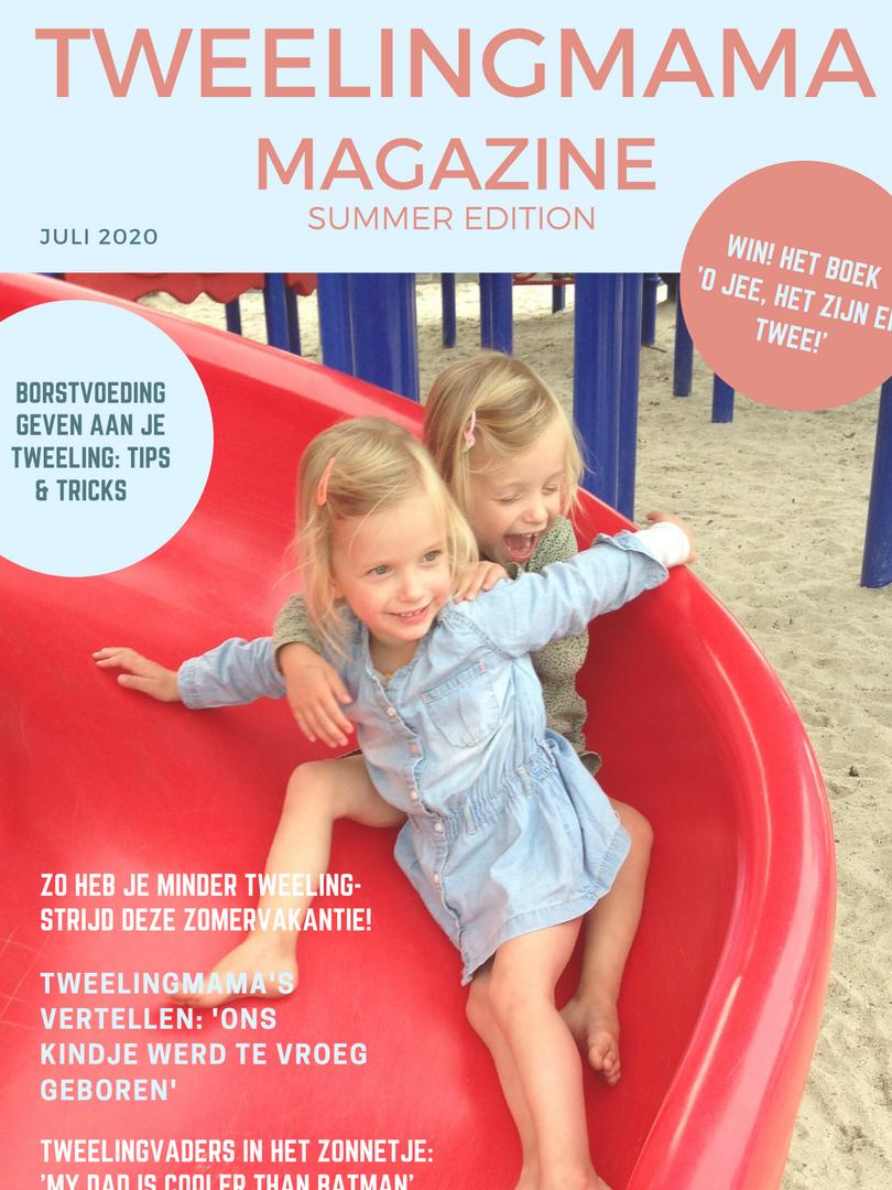 Tweelingmama Magazine zomer 2020 cover v
