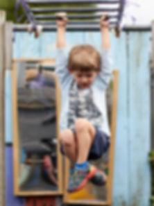 Swinging on the monkey bars