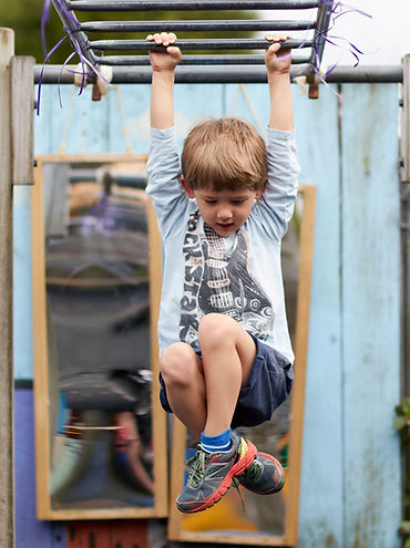 Swinging on the monkey bars