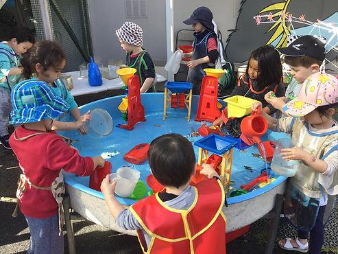 Waterplay at Gardner Road Kindergarten