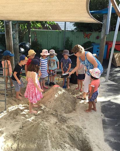 Volcanoes in the sandpit