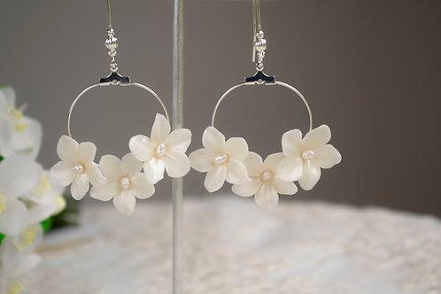 Boucles d'oreilles créoles florales MIA