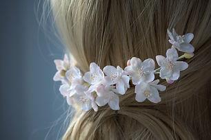 fleurs pommier rose pour la coiffure (7)