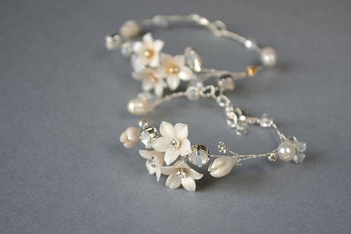 Bracelet mariée, bijoux de bras mariage avec des f