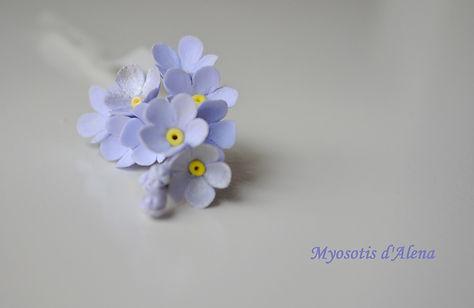 les fleurs en pate polymere