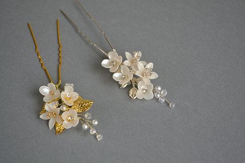Pic à cheveux fleurs dorées JULIETTE