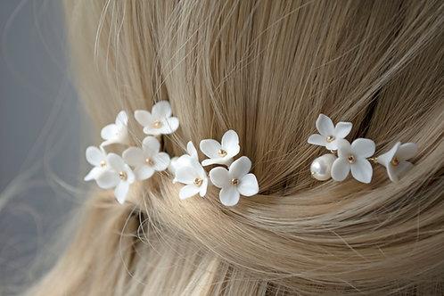 Pic à cheveux mariée, Lilas français