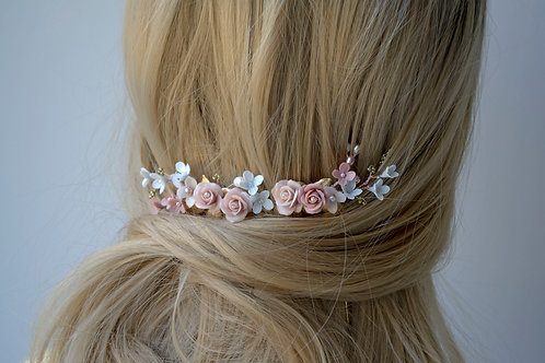 Fleurs coiffure mariée, VICTORIA
