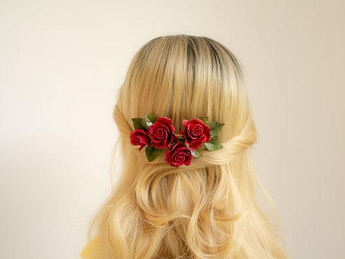 accessoire coiffure mariée, peigne florale
