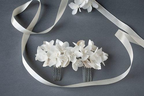 Double peigne Noémie - accessoires cheveux mariage