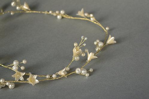 Vigne de cheveux mariage, vigne mariée perles et fleurs