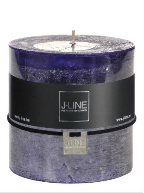 Bougies Cylindre bleu mauve 80H 29203