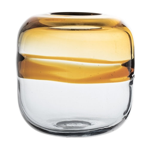 Vase transparent et brun