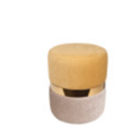 EURO Coco pouf avec tweedo et vintage  F4-T37/YE