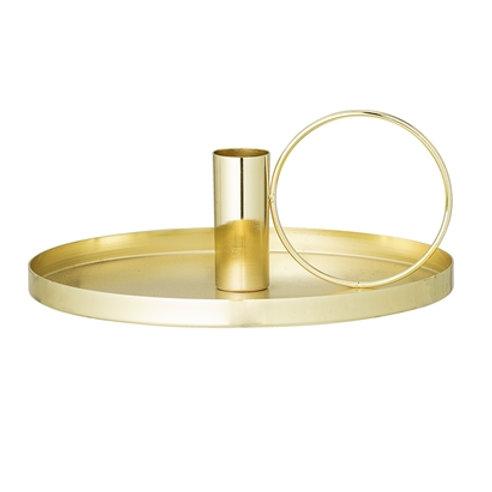 Bougeoir en métal doré