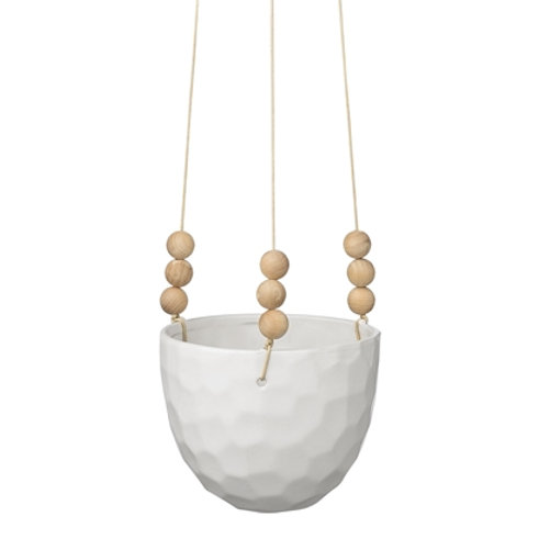Cache pot en suspension blanc