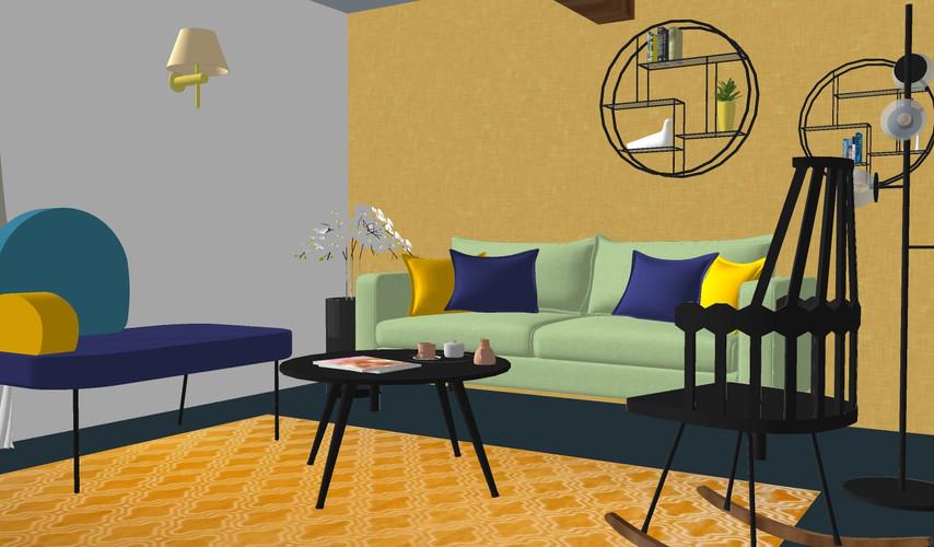 Fauteuil et chaise basculante selon proposition 2