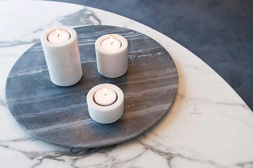 Bougeoirs en marbre Luz