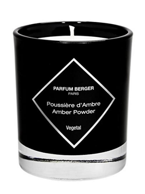 Lampe Berger poussière d 'Ambre graphique Bougie parfumée,  verre, noir, 10 x 10