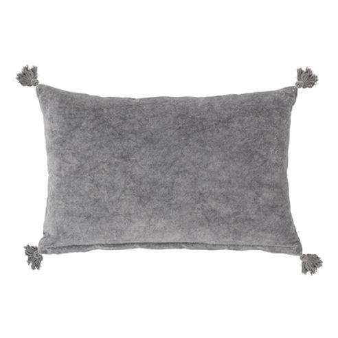 Coussin gris en coton
